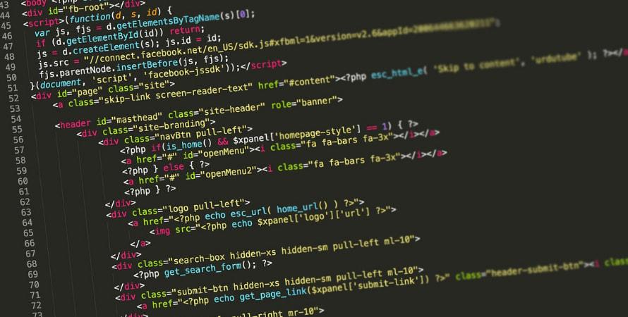 Using code to develop interactive websites