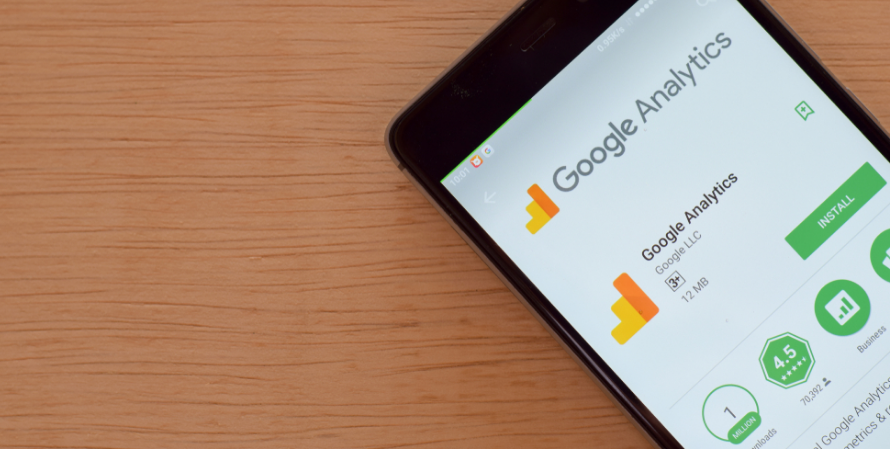 Google Analytics report on a mobile application