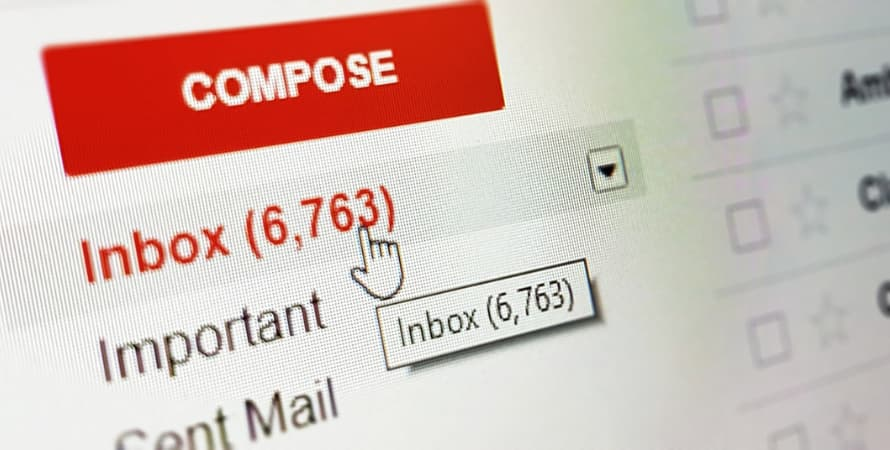 Huge number of emails being sent and received daily